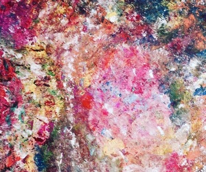 art, paint, and rainbow image