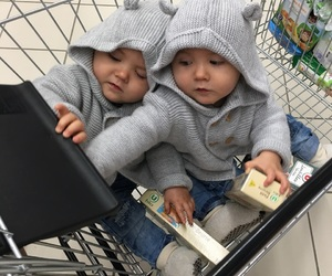 babies, eat, and shopping image