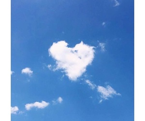 clouds, heart, and love image