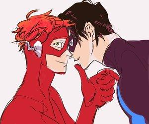 DC, yaoi, and robin image