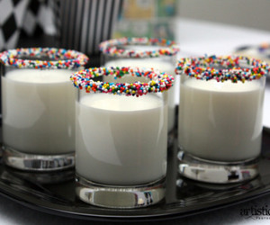 milk, drink, and sprinkles image