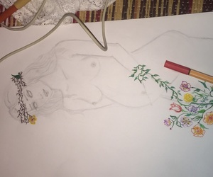 drawing, mother nature, and pregnancy image