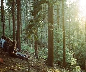 friends, nature, and forest image