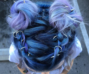 beautiful, braid, and colorful image