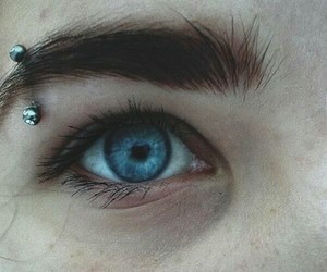 piercing, eyes, and blue image