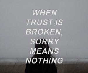 alone, sad, and trust image