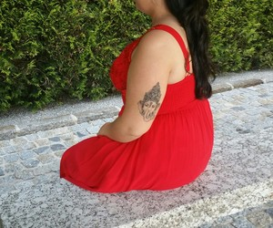 dress, Ganesha, and tattoo image
