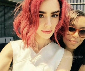 lily collins, actress, and hair image