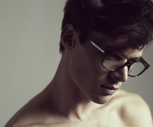 glasses, boy, and Hot image
