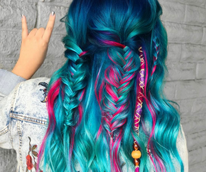 braid, color, and colorful image