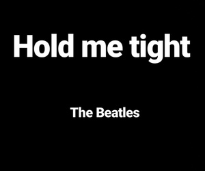 the beatles, hold me tight, and song image