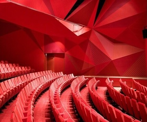 red and architecture image