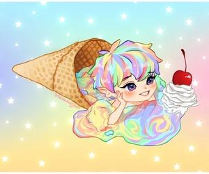 exo, fanart, and ice cream image