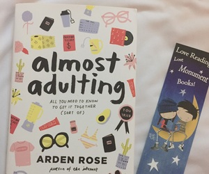 book, arden rose, and almost adulting image