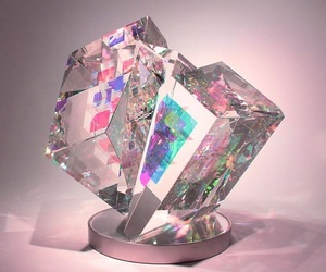 authentic, crystal, and hologram image