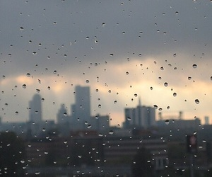 rain, city, and tumblr image