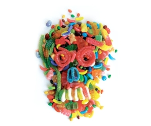 sugar skulls, threadless, and candy image