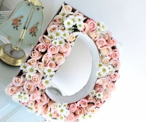 d, flowers, and pink roses image