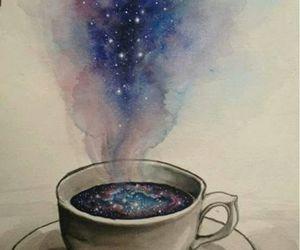 galaxy, coffee, and art image
