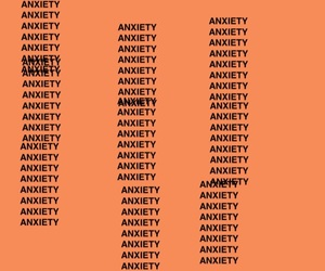 anxiety, orange, and aesthetic image