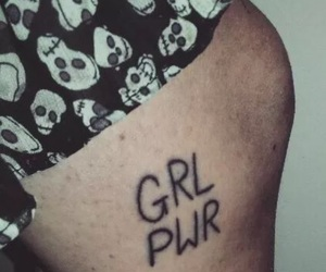 feminist, tattoo, and grl pwr image