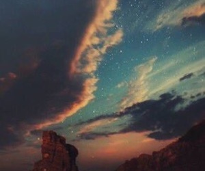 sky, stars, and nature image