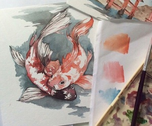 art, fish, and draw image