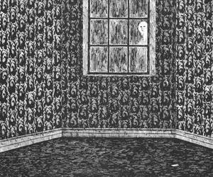edward gorey, wallpaper, and room image
