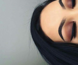 make up, delineado, and maquillaje image