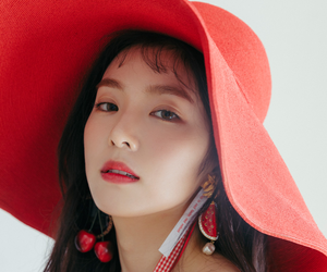 fashion, red, and sun hat image