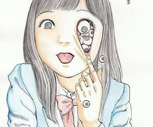 creepy and eyes image