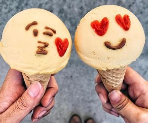 ice cream, food, and emoji image