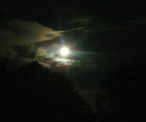 clouds, sky, and full moon image
