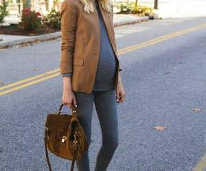 bag, outfit, and pregnant image