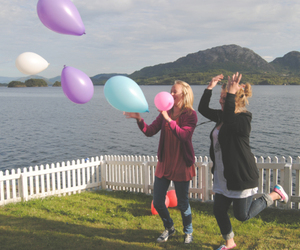 balloons, mountain, and norway image