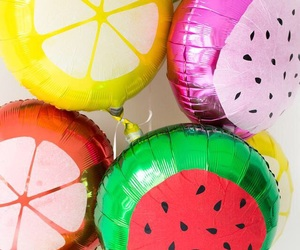 balloons, colorful, and FRUiTS image
