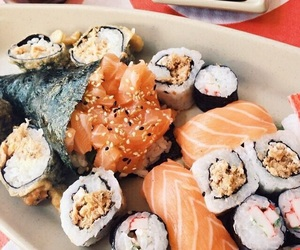 sushi, food, and rice image