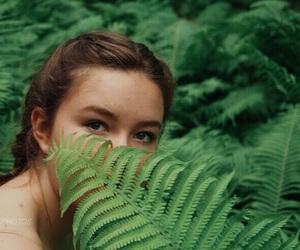 eyes, fern, and girl image
