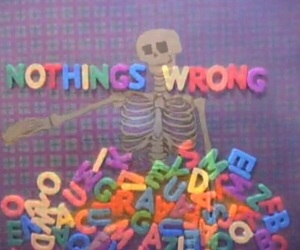 text, grunge, and skeleton image