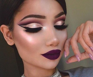beautiful, highlight, and make up image