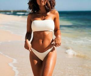 bikini, beach, and girl image