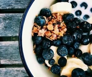 banana, blueberry, and outside image