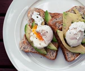 avocado, food, and eggs image