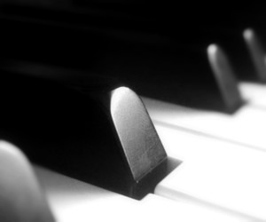 black, photography, and piano image