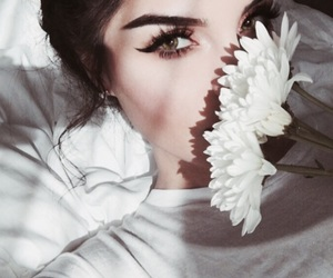 beauty, eyelashes, and fashion image