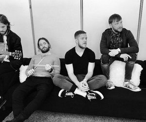 bands, black and white, and imagine dragons image