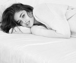 black white, girl, and model image