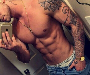 abs, grunge, and guys image
