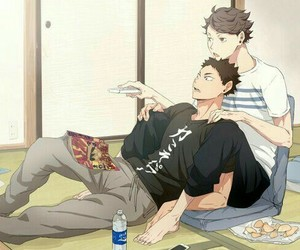 haikyuu and iwaoi image