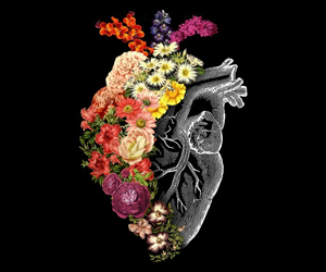 colors, flowers, and heart image